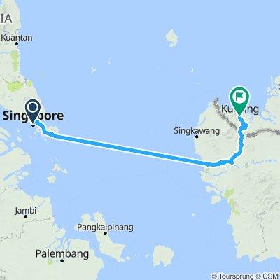 Singapore to Sarawak
