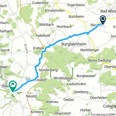 Cycling Routes And Bike Maps In And Around Illesheim Bikemap