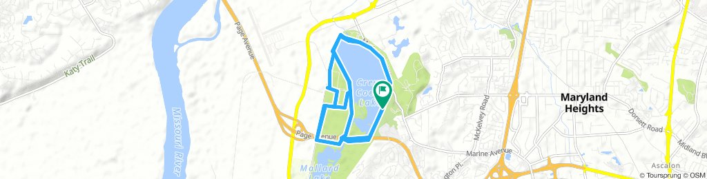 STL_Maryland Heights Road Cycling_Crave Coeur Lake RTC_20.6km_2018-09-12