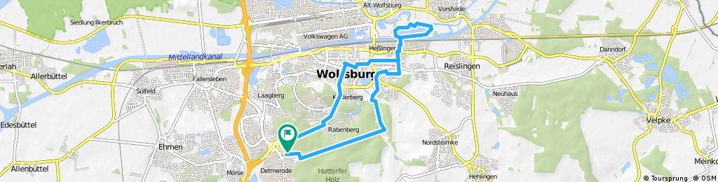 Wolfsburg Allersee Fahrad