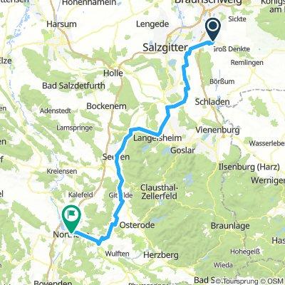 Weserradtour Tag 1