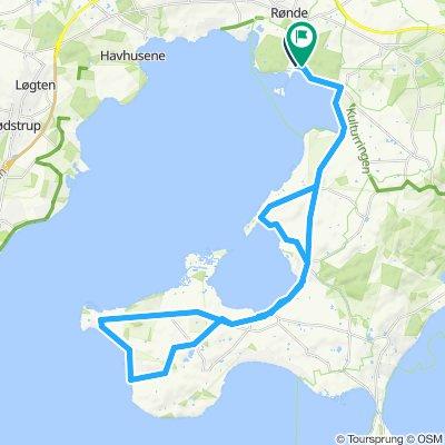 Kalø Slot to West Helgenæs circuit