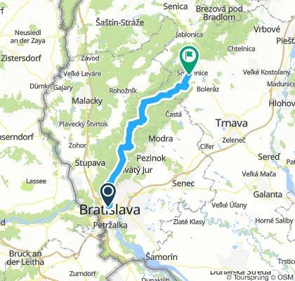 Bratislava-Smolenice po hřebenu