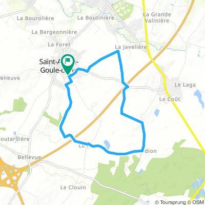 Balade en vélo avec Enzo Mercredi Route In Saint-André-Goule-D'oie