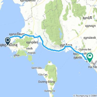Sihanoukville - Wietnam Granica