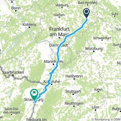 Stage E Fulda to Strasbourg
