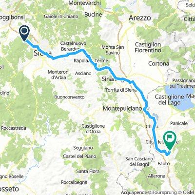 Dag 13: Bracciano til Santa Maria