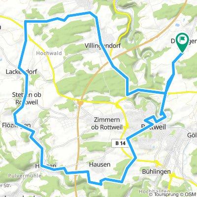 Dietingen RW Hausen Eschachtal (Horgen bis Lackendorf) Hochwald Villingendorf Dietingen