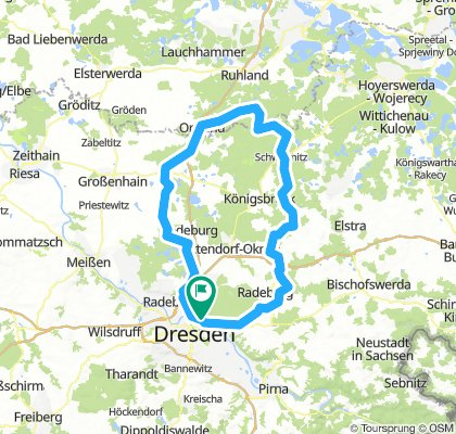 120 km nordwärts - Ortrand / Hermsdorf