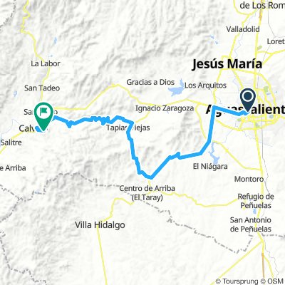 Aguascalientes - Tapias Viejas - Calvillo