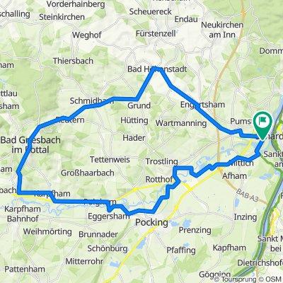 🚴♀️E*Bike🇩🇪Neuhaus- Bad Griesbach-Karpfham-Tour 28.09.18.