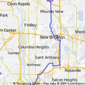 B2B00254 55449>55403 via Long Lake Rd, Diagonal Trail, 6th Ave SE