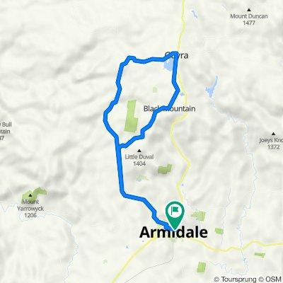 Armidale to Guyra and back via Black mountain