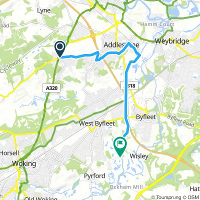 Ottershaw to the Pyrford Anchor