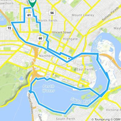 North Perth to bridges loop