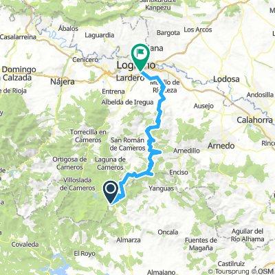 Piqueras-Logroño (por cordal de Monte Real)