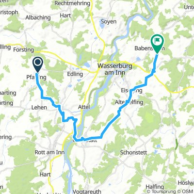 8 Pfaffing - Ramerberg - Griesstätt - Eiselfing - Altbabensham (- Schnaitsee)