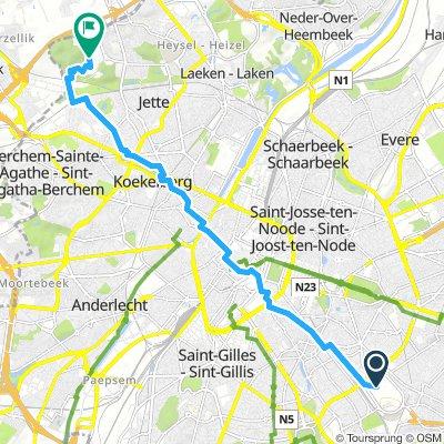 VUB Etterbeek naar Jette