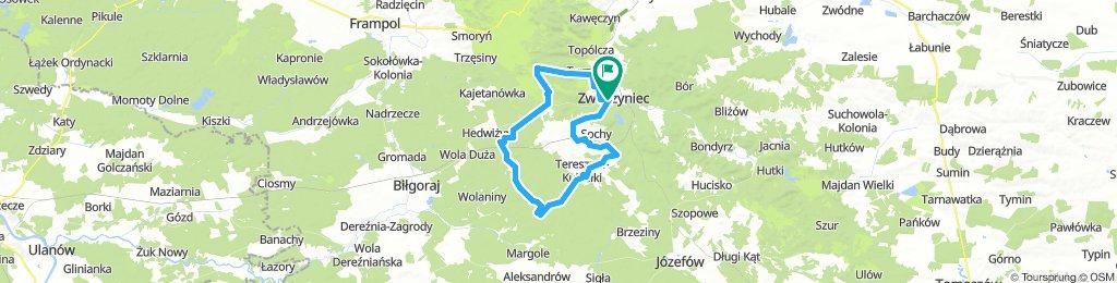 Roztoczański Park Narod/SzczebrzeszParkKrajobr. - po lasach