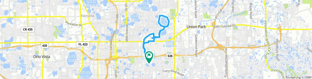 Extensive Morning Route In Orlando