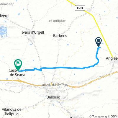 CyC 119-210 Canal d'Urgell amb sequia segona (Anglesola) a Castellnou de Seana