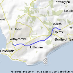 NCR2: Budleigh - Exmouth off road cycleway