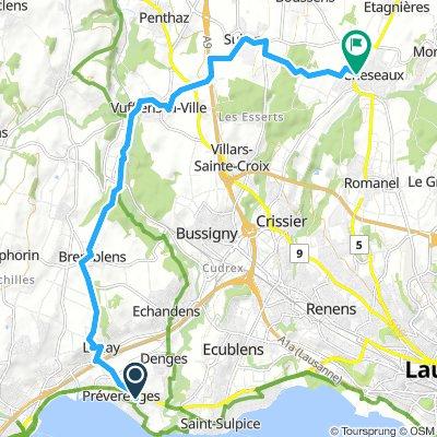 To Cheseaux via Bremblens, Vufflens la Ville, Sullens