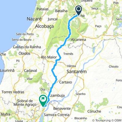 17 Castanheira do Ribatejo - Arruda dos Vinhos km 101