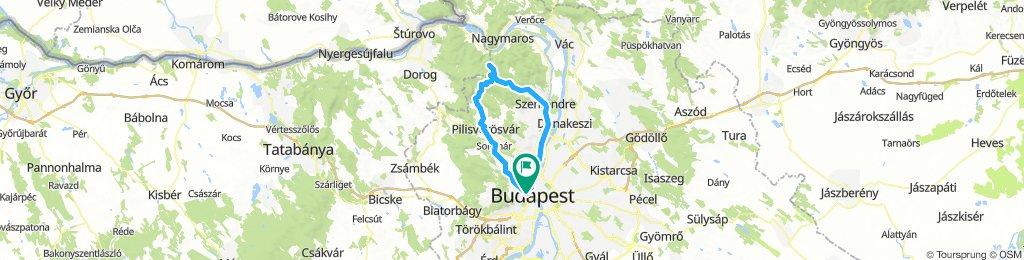 Bp - Szentendre - Prédikálószék - Pilisvörösvár - Bp