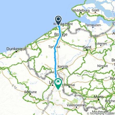 Road to Scotland - Etape 18 - 15 juin 2019 - Zeebruges à Peronne en Malantois - 101km 130D+
