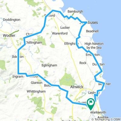 Northumberland coastal bike ride