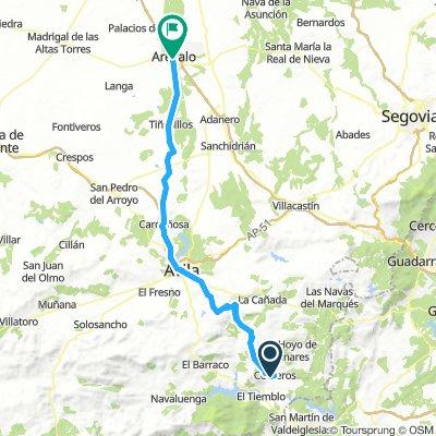 Cebreros-Arevalo Camino de santiago