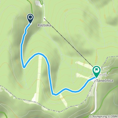Pustevny 3,5 km převýšení 250m