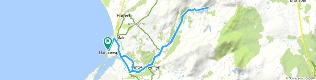 Llandanwg to Llyn Cwm Bychan