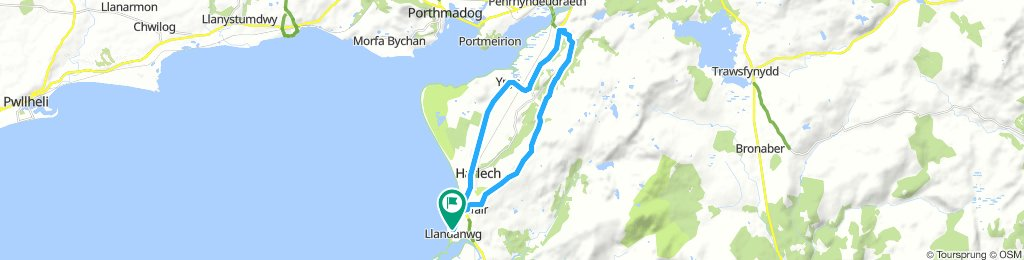 Llandanwg to Llandecwyn