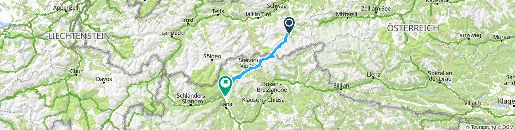 Mayrhofen- Dorf Tirol ...mit Platten und Bustransport durchs Pfitschtal