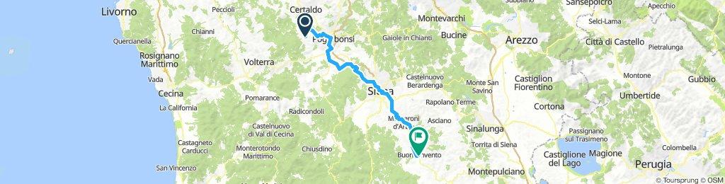 I 011: San Gimignano - Buonconvento