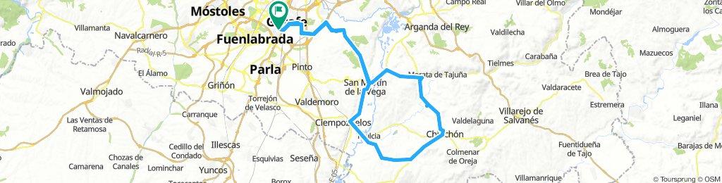 Getafe - Chinchón por Frascuelo. Vuelta por Villaconejos.
