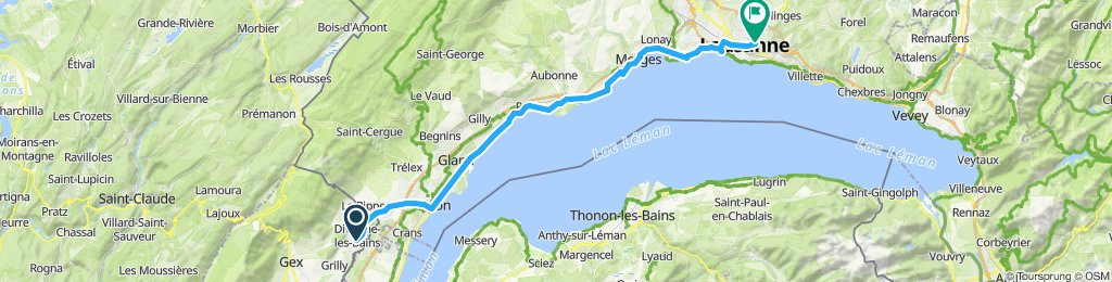 Divonne to Lausanne