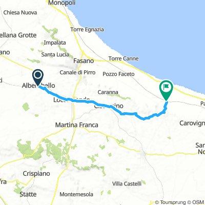Alberobello / Ostuni km 40 - 190 d.