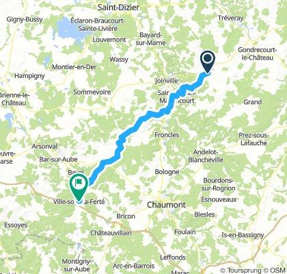 10A Echenay - Ville-sous-la-Ferté Jakobsweg