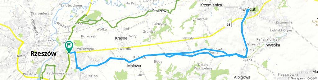 Rzeszów - Łańcut - przez Malawę i Kraczkową
