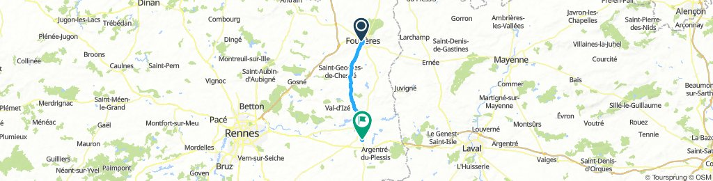 Brittany Tour day 2 - Fougeres to Vitre