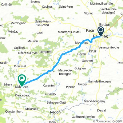 Brittany Tour day 4 - Rennes to Malestroit