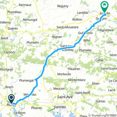 Brittany tour day 6 - Auray to Josselin