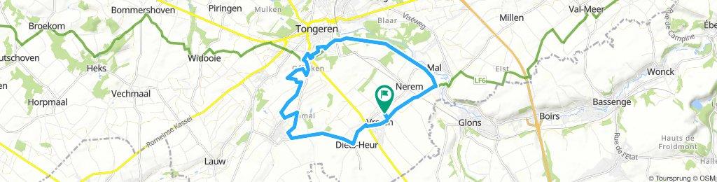 Vreren,Sluizen route,Tongeren,Rutten,Heur,Vreren.