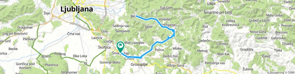 Šmarje - Trebeljevo - Besnica - Trebeljevo - Šmarje
