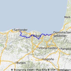 15.San Sebastian-Collindres 225 km