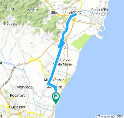Ruta 45 k Castillo Sagunto