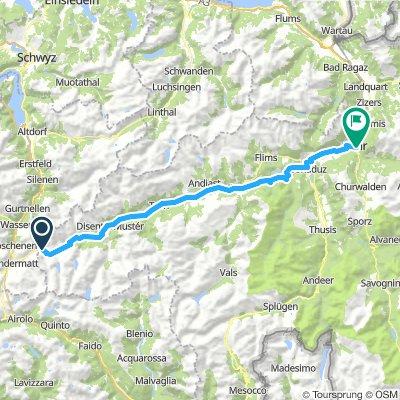 Rhine 1: Oberalp - Chur